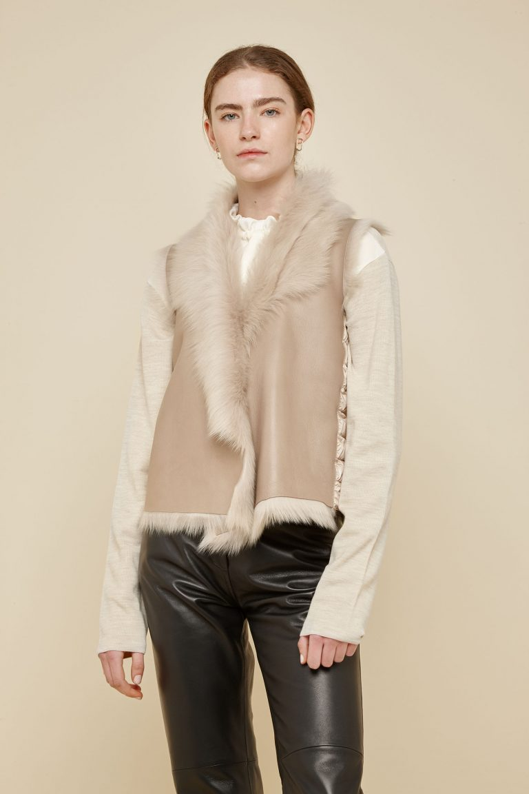 cream shearling and down gilet - women | gushlow and Cole - DRGWT-SAN - 40257