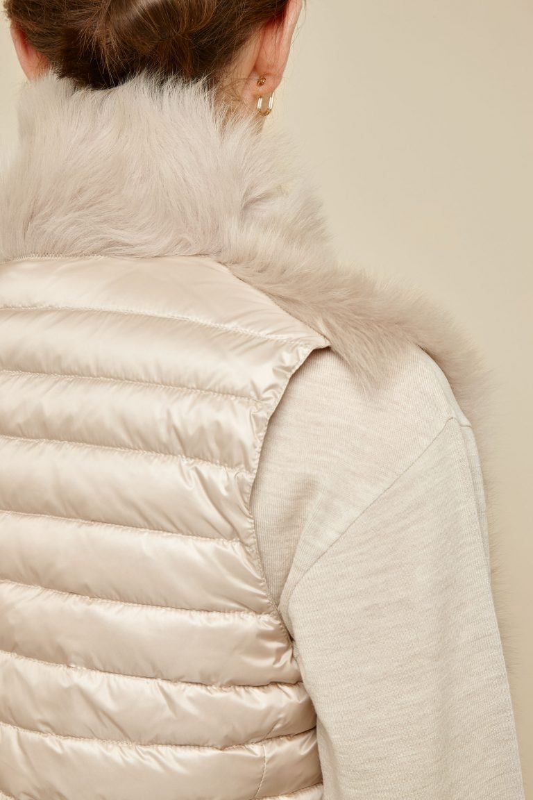 cream shearling and down gilet - women | gushlow and Cole - DRGWT-SAN - 40324