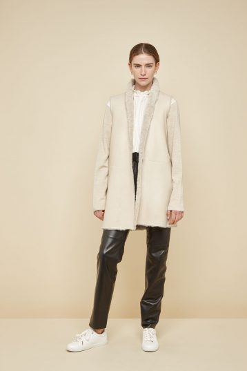 cream stand collar shearling gilet - women | gushlow and Cole - G3CX0-SAN - 40083