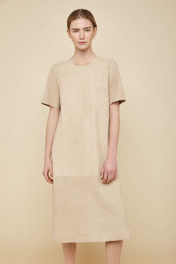 cream suede t shirt dress - women | gushlow and Cole - DTSHS1-ECR - 36902