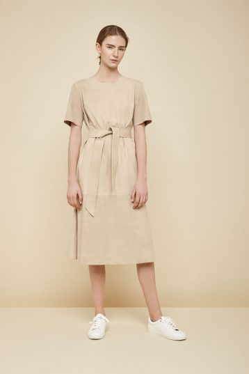 cream suede t shirt dress - women | gushlow and Cole - DTSHS1-ECR - 36944