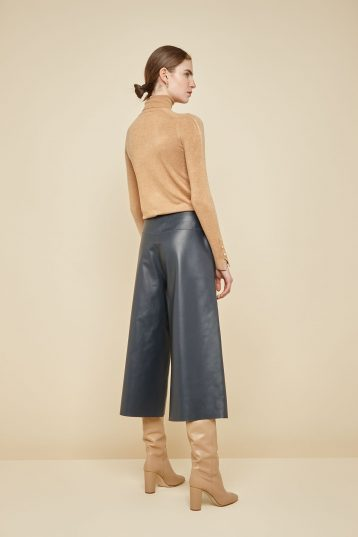 navy leather culottes - women | gushlow and Cole - PCLN0-NAV - 38765