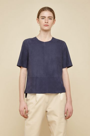 navy suede t shirt - women | gushlow and Cole - TTSS0-IND - 39526