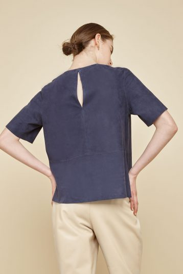 navy suede t shirt - women | gushlow and Cole - TTSS0-IND - 39554