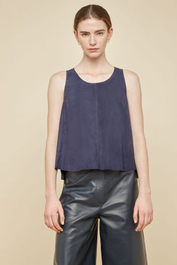 navy suede vest top - women | gushlow and Cole - TVTS0-IND - 39004