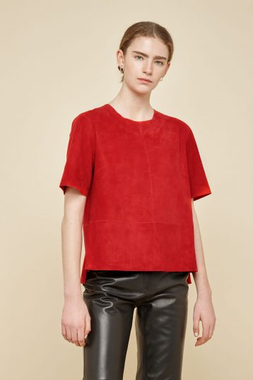 red suede t shirt - women | gushlow and Cole - TTSS0-RED - 39766