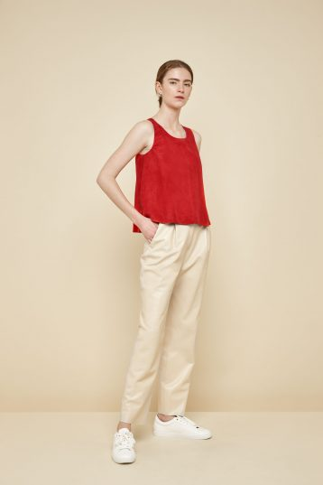 red suede vest top - women | gushlow and Cole - TVTS0-RED - 39400