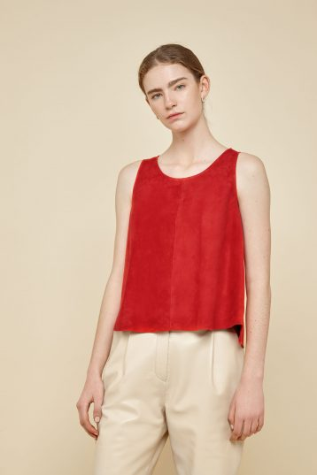 red suede vest top - women | gushlow and Cole - TVTS0-RED - 39456