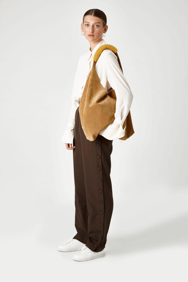 tan suede slouch bag - women | gushlow & Cole - BLSLOC-TAN