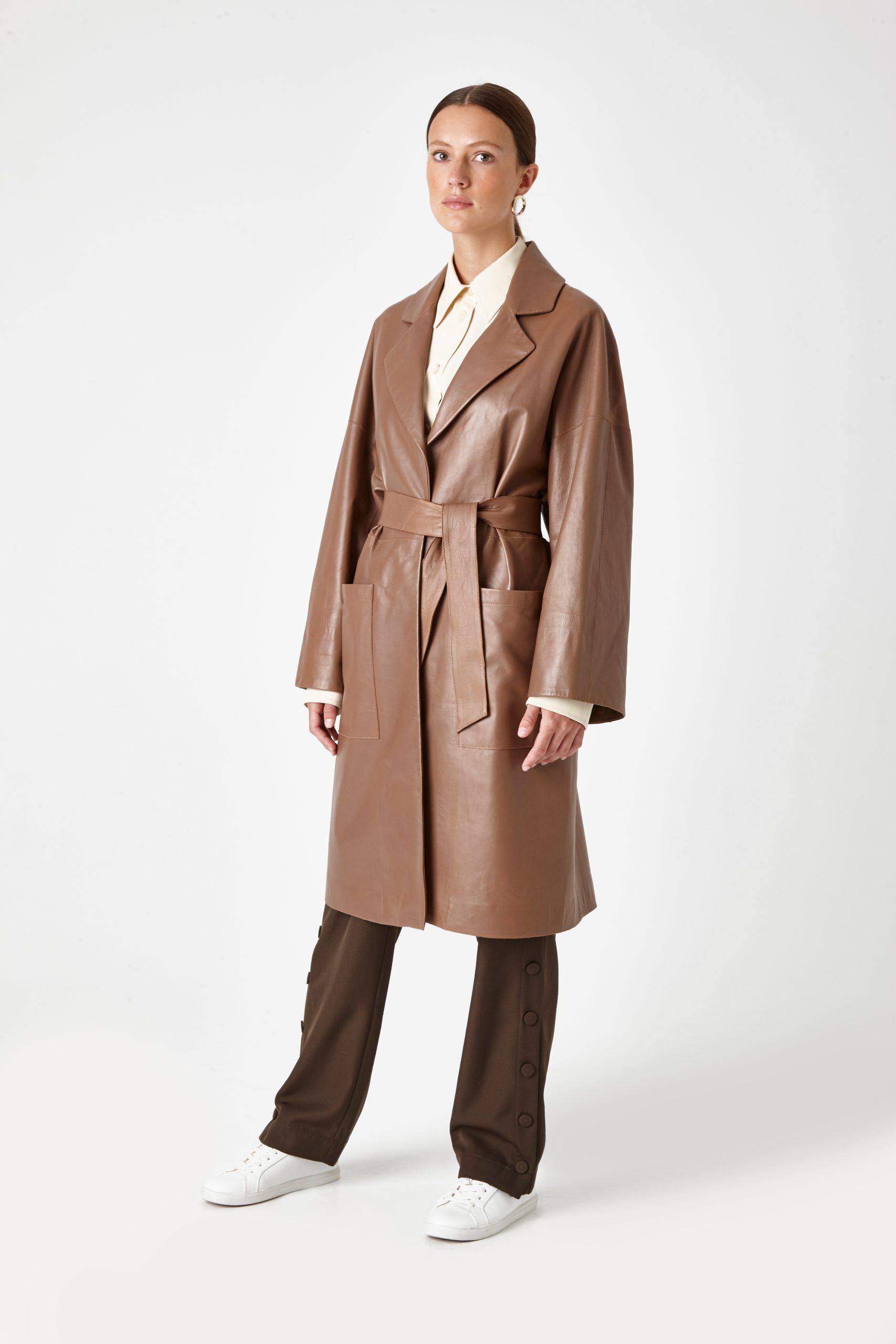 leather mac coat - women | Gushlow & Cole - CMAN0-WA