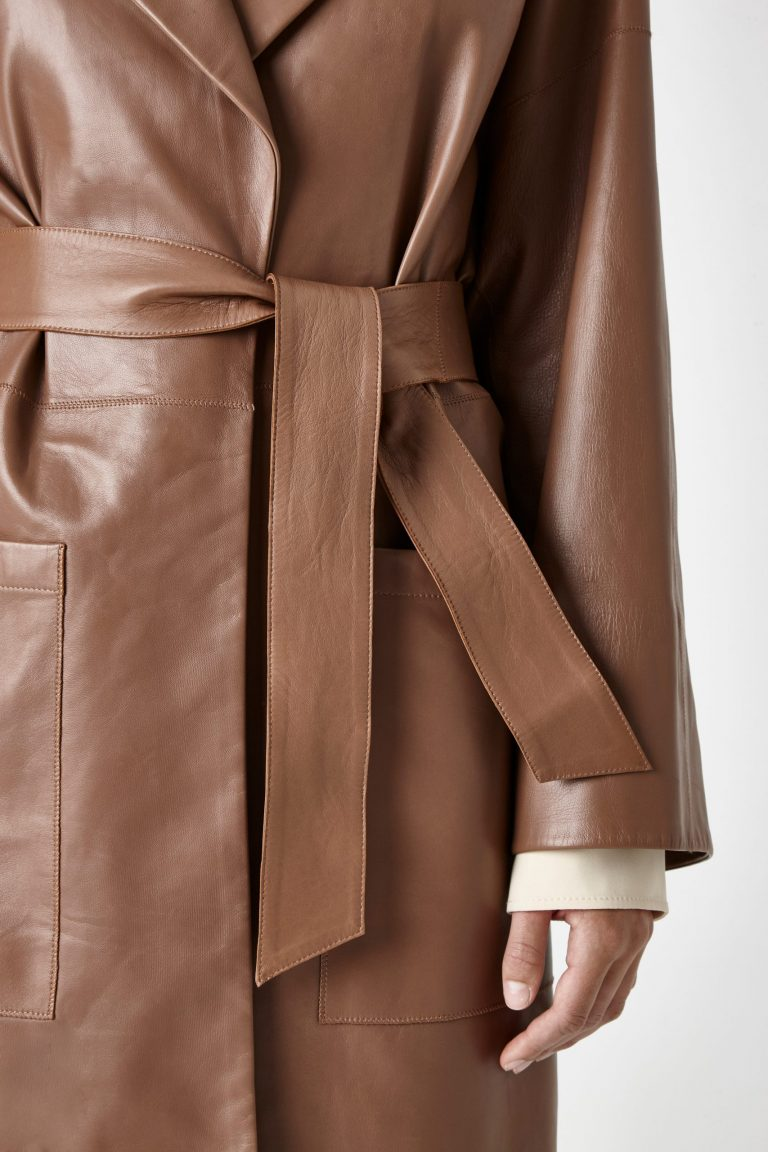 leather mac coat - women | Gushlow & Cole - CMAN0-WAL