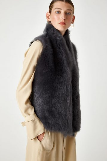 shearling and down gilet - women | Gushlow & Cole - DRGWT-GRE