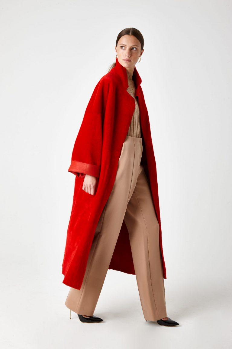 shearling mac coat - women   Gushlow & Cole - CXMAM6-RED