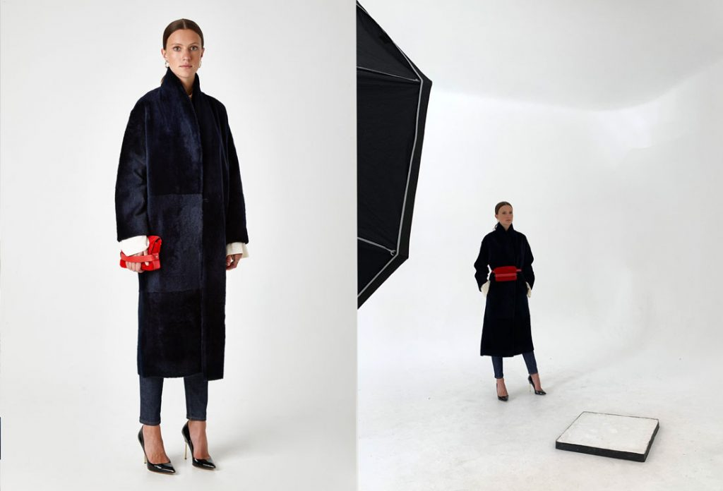 behind-the-scenes-shooting-aw-19-20-gushlow-and-cole-stand-collar-shearling-coat-in-navy