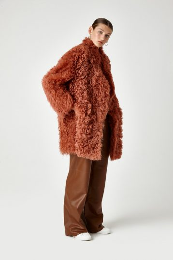curly shearling coat
