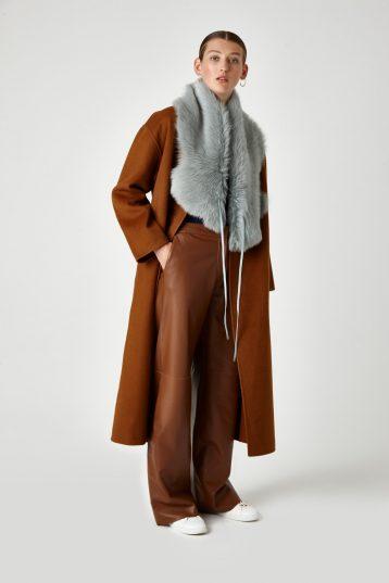 shearling shawl scarf