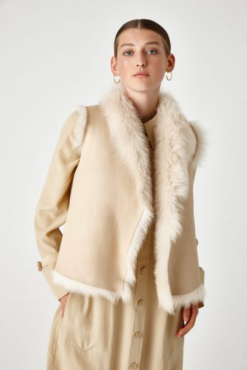 Shearling Rough Cut Gilet - women | Gushlow & Cole - GRCTX-BUT