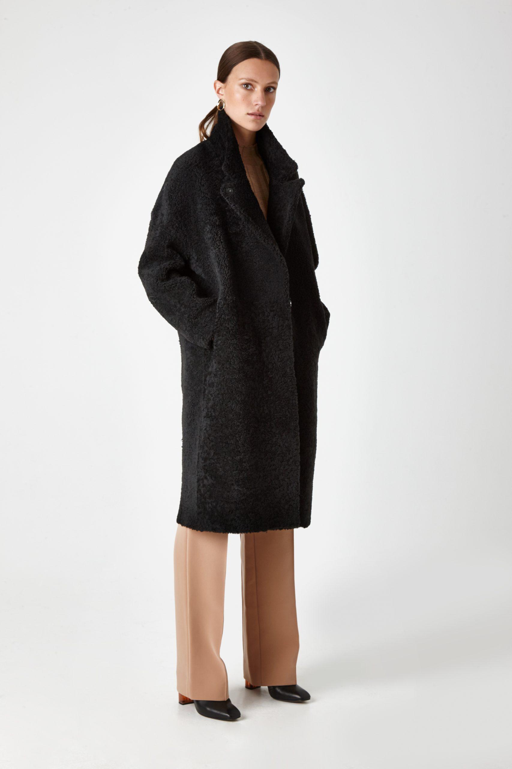 shearling coat - women | Gushlow & Cole - COVE0(19)-BLK