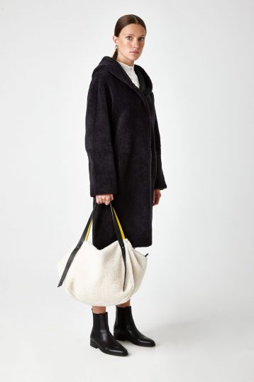 hooded shearling coat - women | Gushlow & Cole - CHODE0-GRA