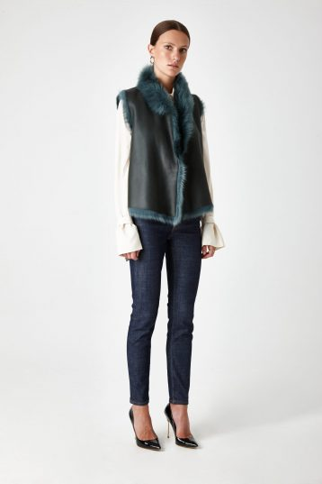 Shearling Rough Cut Gilet - women | Gushlow & Cole - GRCTX-SPR