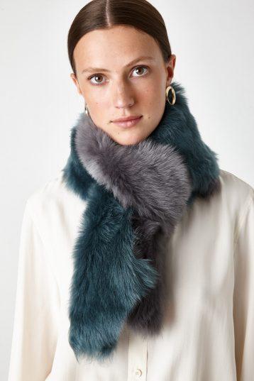 long shearling scarf