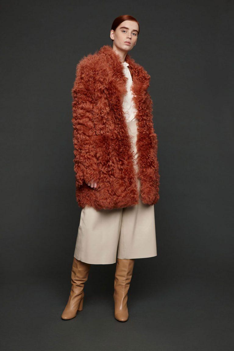 curly shearling coat