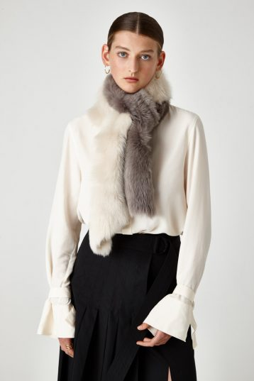 long shearling scarf