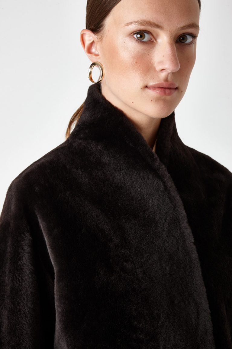 long shearling coat | gushlow and cole