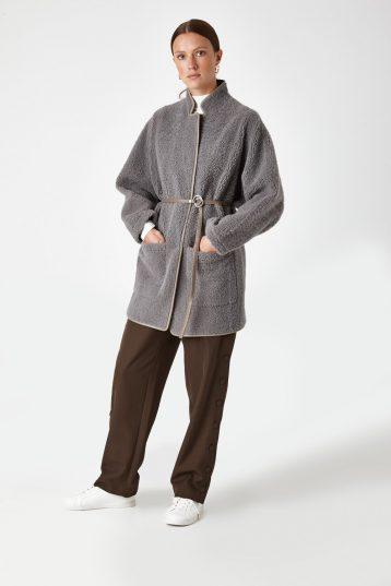 batwing shearling Coat