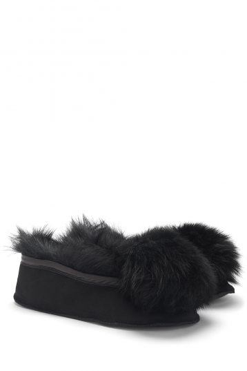Shearling Ballet Slippers