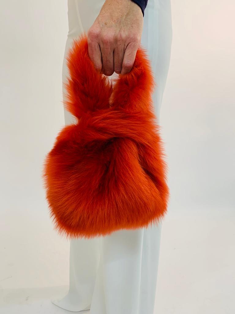 The New Season Shearling Bags - blog post - mini tote bag - orange