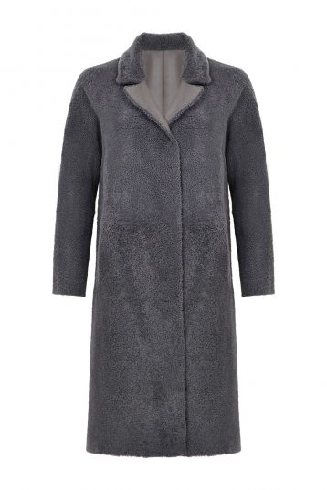 Shearling City Coat in Grey | Women | Gushlow & Cole 2