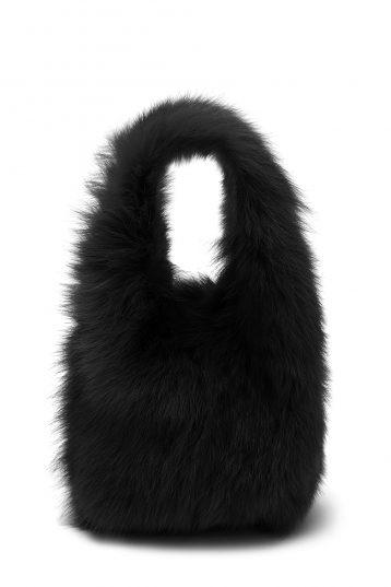 Mini Shearling Tote Bag in Black | Handbags | Gushlow & Cole
