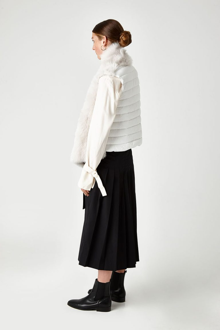 Shearling and Down Gilet in White | Women | Gushlow & Cole 2