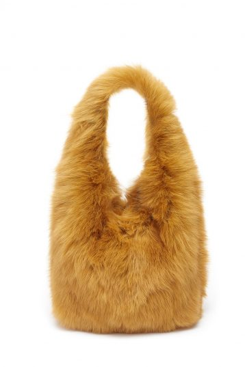 Medium Shearling Tote Bag in Mustard Yellow | Handbags | Gushlow & Cole