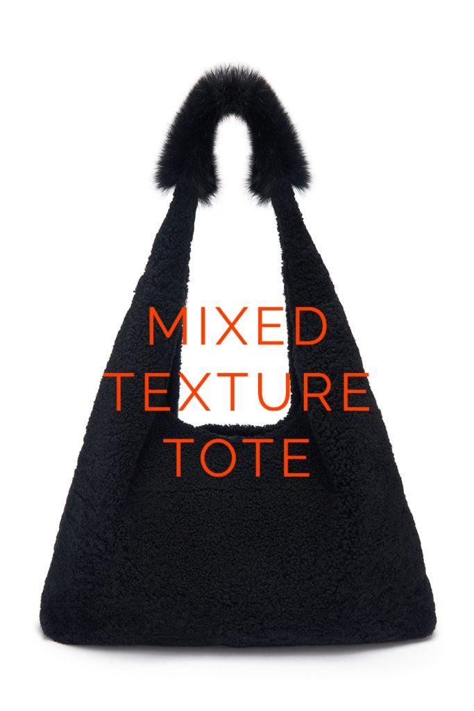 The New Season Shearling Bags - blog post - slouch bag - navy