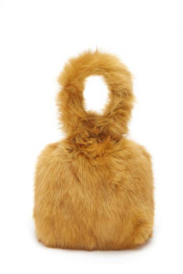 Medium Shearling Tote Bag in Mustard Yellow | Handbags | Gushlow & Cole 2