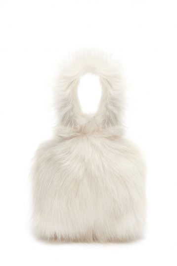 Mini Evening Shearling Tote Bag in White | Handbags | Gushlow & Cole