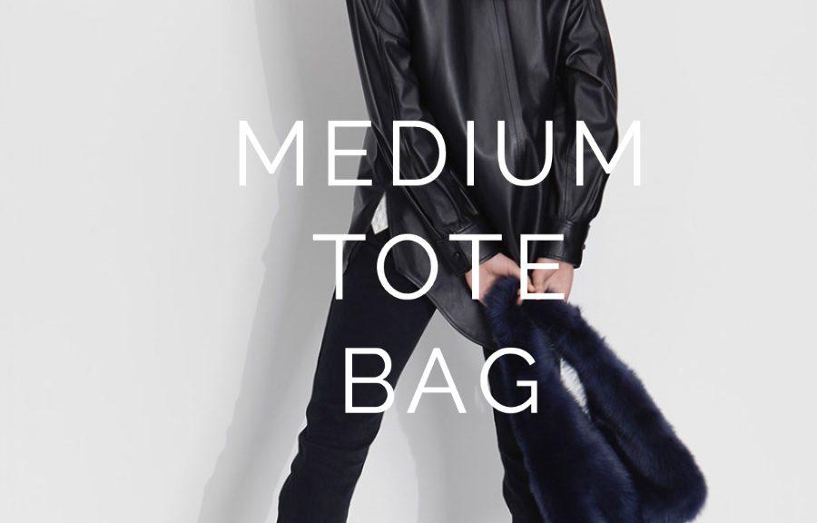 The New Season Shearling Bags - blog post - medium tote navy
