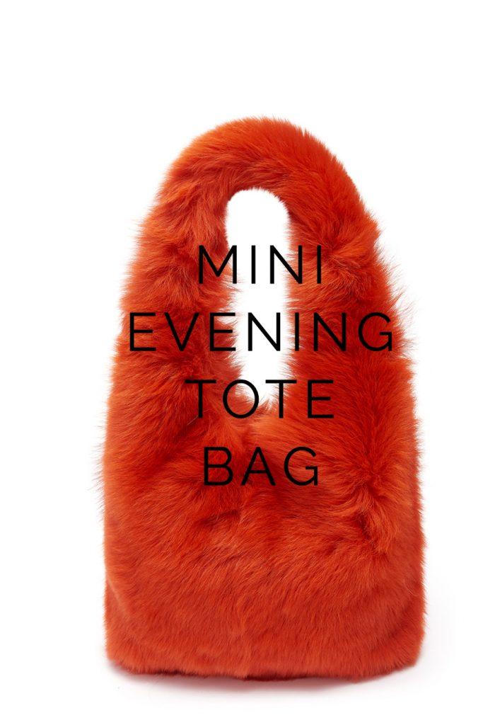 The New Season Shearling Bags - blog post - mini tote bag - orange 2