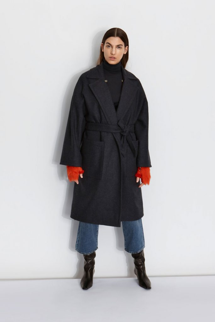 Autumn Winter 20/21: The Story Behind The Collection | Gushlow & Cole - wool tweed coat navy