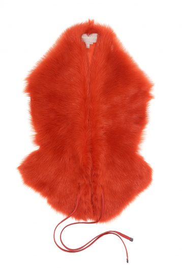 Shearling Shawl Scarf in Furnace Orange | Women | Gushlow & Cole