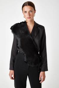 Last Minute Luxury Gifts - shawl scarf black
