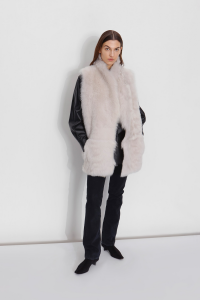 Last Minute Luxury Gifts - mixed shearling gilet white