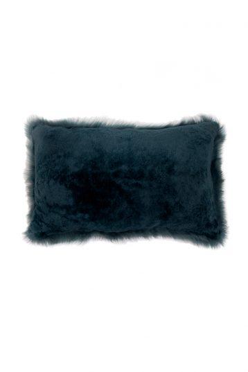 Large Toscana Sheepskin Cushion in Spruce Green cut out back