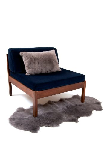 Large Toscana Sheepskin Cushion in Taupe side