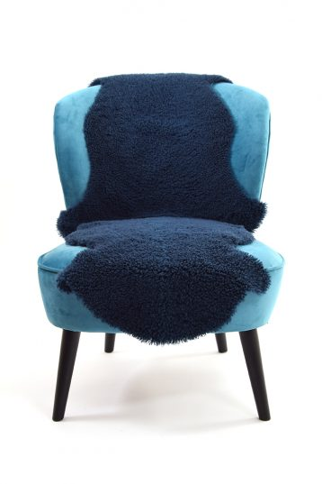 Double Teddy Merino Sheepskin Rug in Dark Teal front
