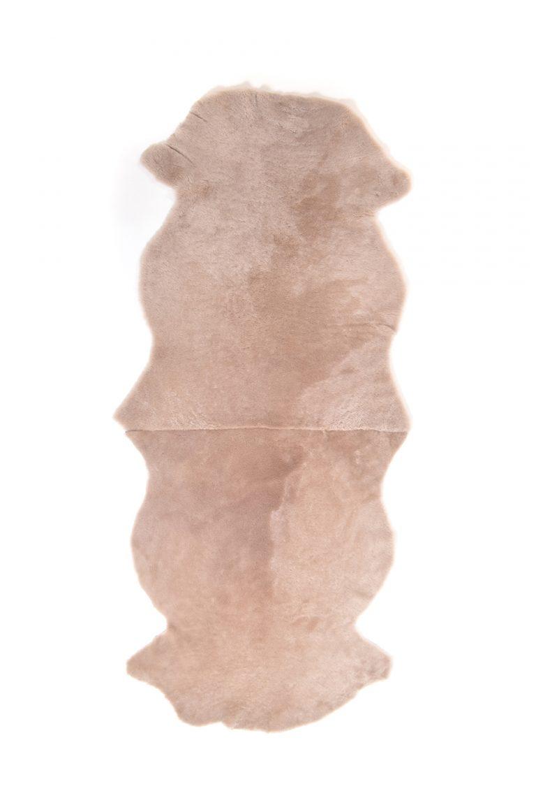 Double Merino Sheepskin Rug in Beige cut out