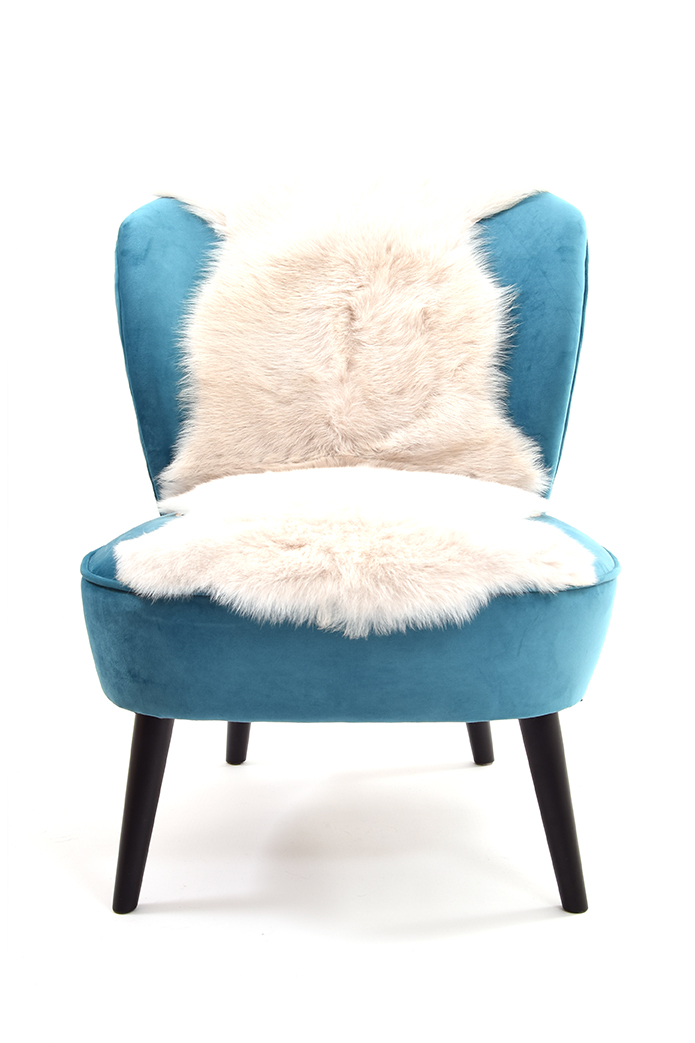 Double Toscana Sheepskin Rug in White front