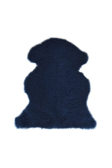 Medium Teddy Merino Sheepskin Rug in Dark Teal cut out